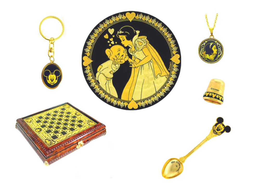 Disney special gift collection gold damascene