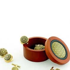 Cufflinks and jewelry box