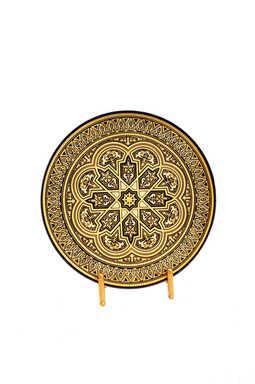 21203 damascene geometric decoration plate