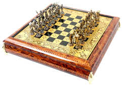 41089 Renaissance luxury damascene chess set with Cervantes pieces.