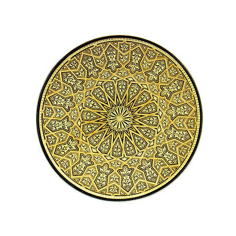 21116 geometric decoration plate