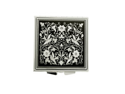 93072 square silver pocket mirror