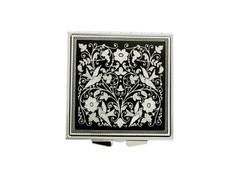 93072 square silver pocket mirror