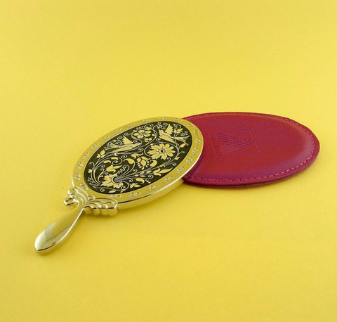 41309 mini hand mirror with cover