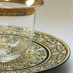 21216 luxury damasce decoration plate with artisan finish