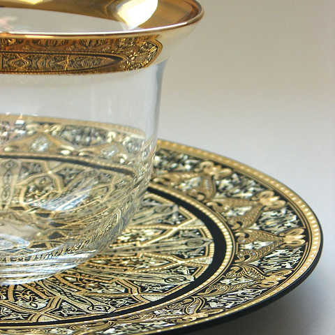 21216 luxury damasce decoration plate with artisan finish