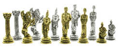 Greek chess pieces set
