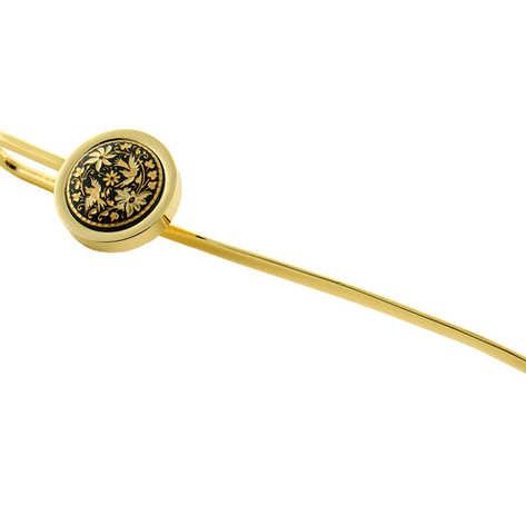 12 cm 24k gold damascene bookmark