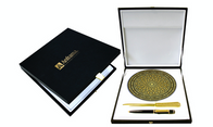 41980 Desk set with plate, letter opener and pen.