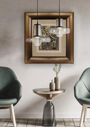 El greco gold damascene decorative picture framed
