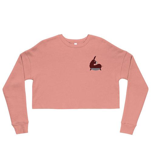 Caspian Donkey-Bean Cropped Sweatshirt