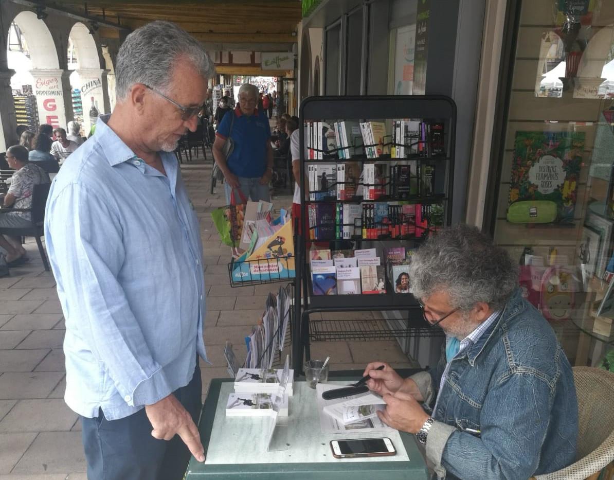 Signature à la librairie du Beffroi à Revel, 11 juillet 2020