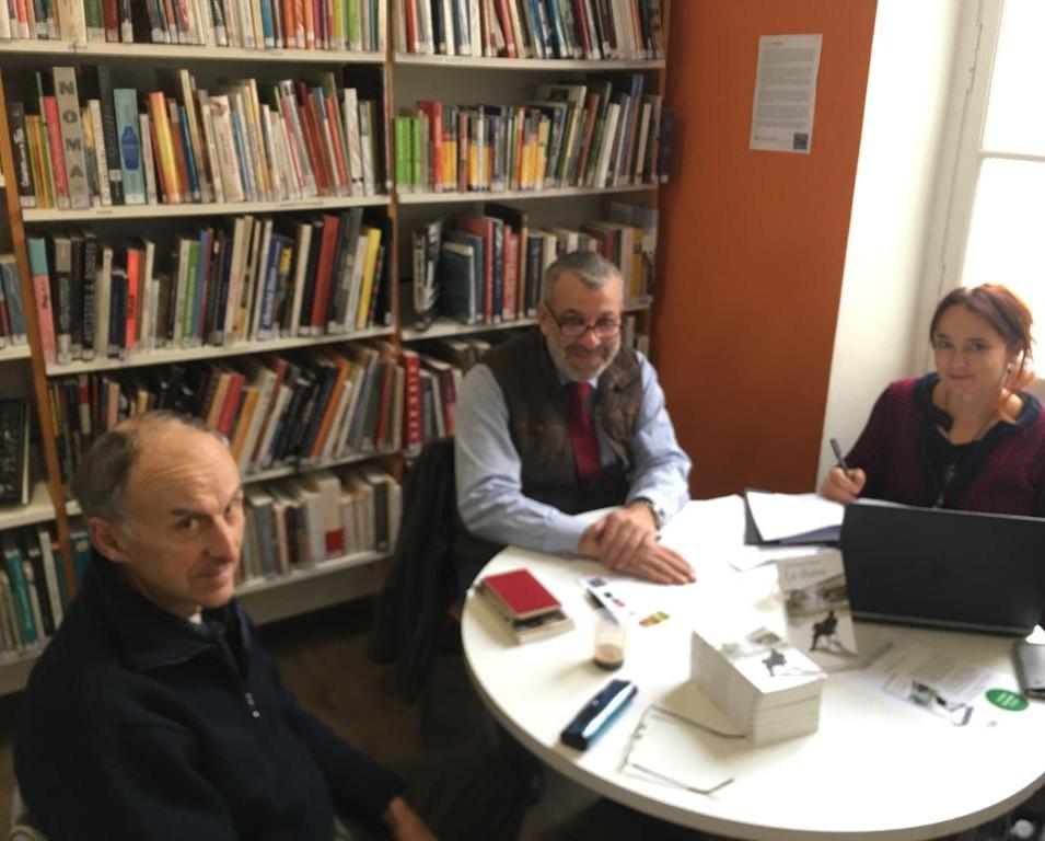 La chaise a la médiathéque de Puylaurens le 3 décembre