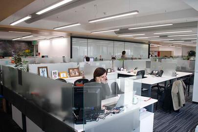 Control de iluminación de oficinas Transbank
