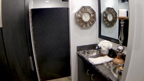 Ladies room double sink mirror pic. WT.j