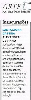Inaugurações - Exposição scritorium de Alexandra de Pinho