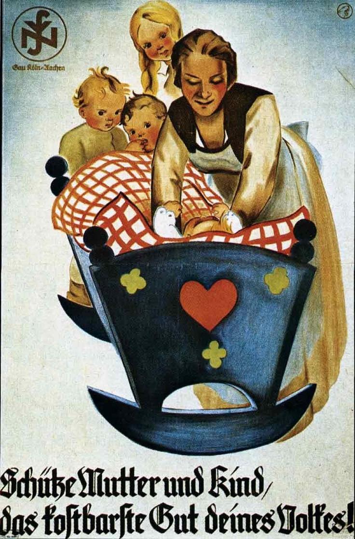 (Bild der Mutterrolle im Dritten Reich. Quelle: Pinterest)