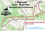 Mapa - V Bieg Lucka 5 km i NW - wyzwanie