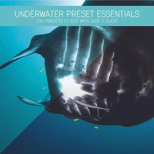 Underwater Essentials Preset Bundle (25x Lightroom Presets)