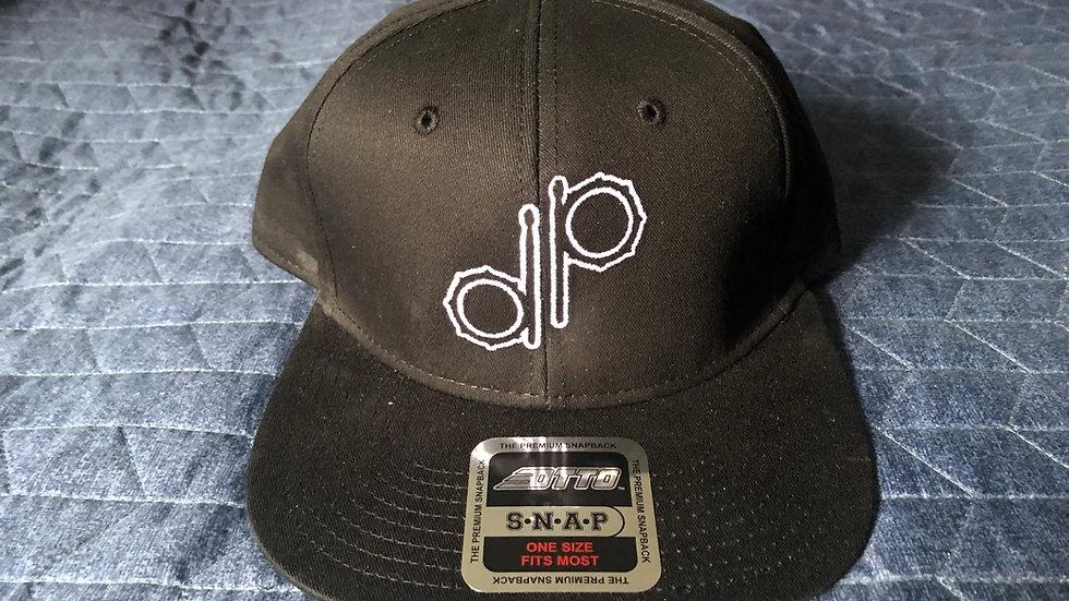 """DP"" Logo Black Cotton Hat - Prototype"