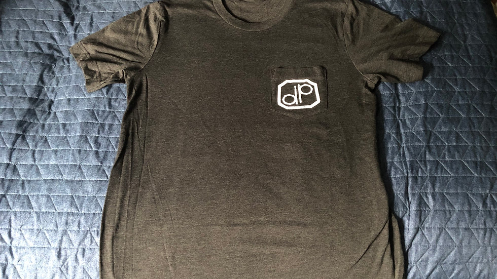 """DP"" Drum Badge POCKET T-Shirt - MEDIUM"