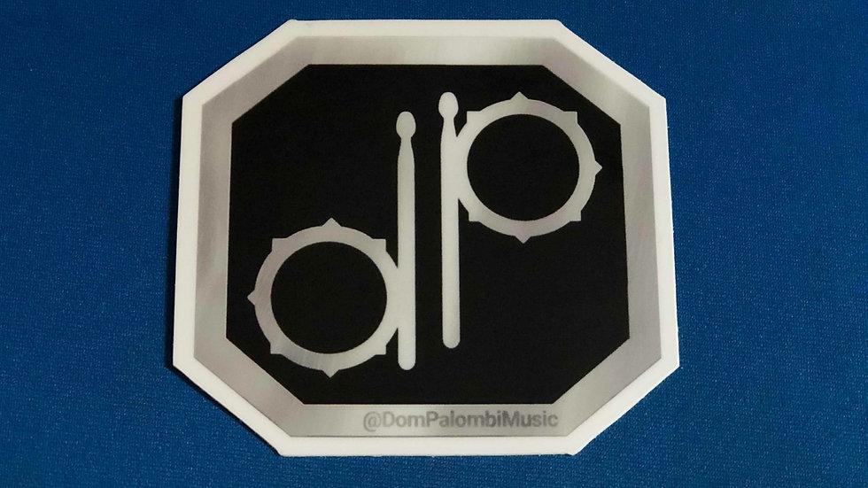 """3""""x3"""" """"DP"""" Drum Badge Sticker"""