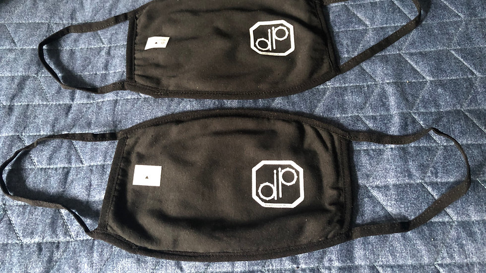 "2 Pack - ""DP"" Drum Badge Face Mask"