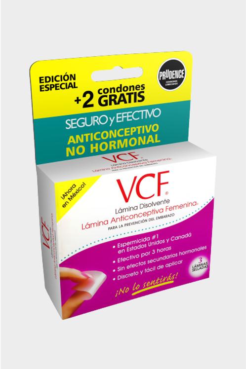 Lámina anticonceptiva VCF.