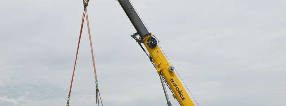 Precast bridge girder install