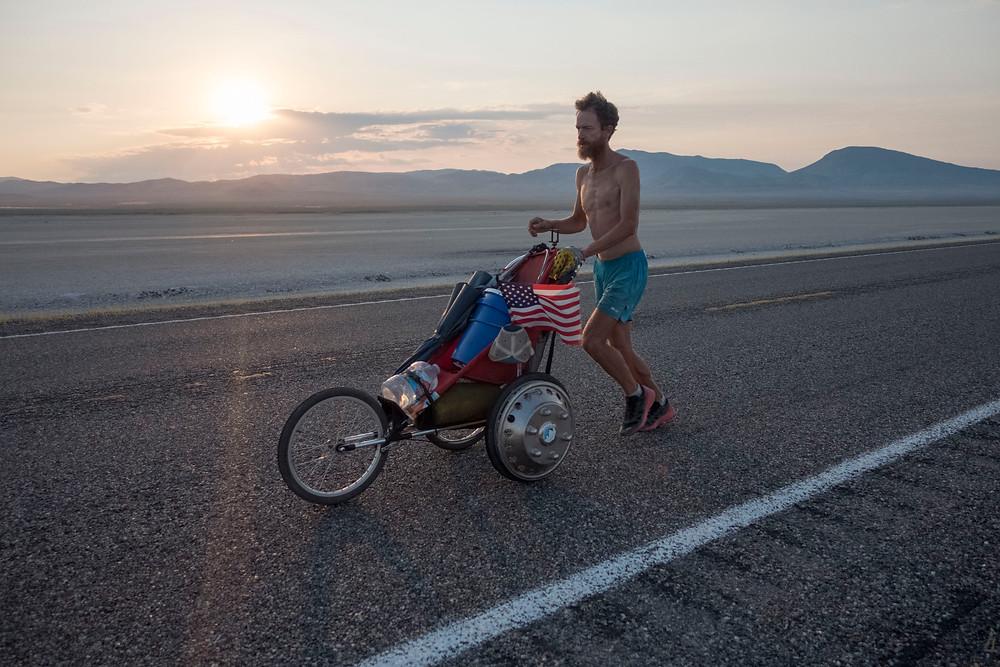 Rickey Gates running across the desert in Utah