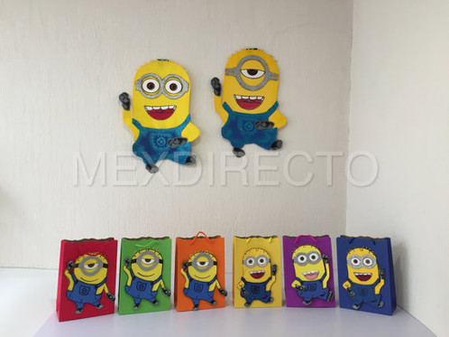 Minion Wall Decor minion party pack 2 wall decor & 12 bags & 12 pick | perfectsgifts