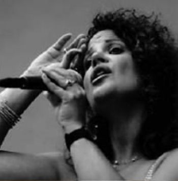 Francesca Amari, cabaret singer, appearing with her vocal trio, The Boogie Woogie Babies in Grand Rapids, MI