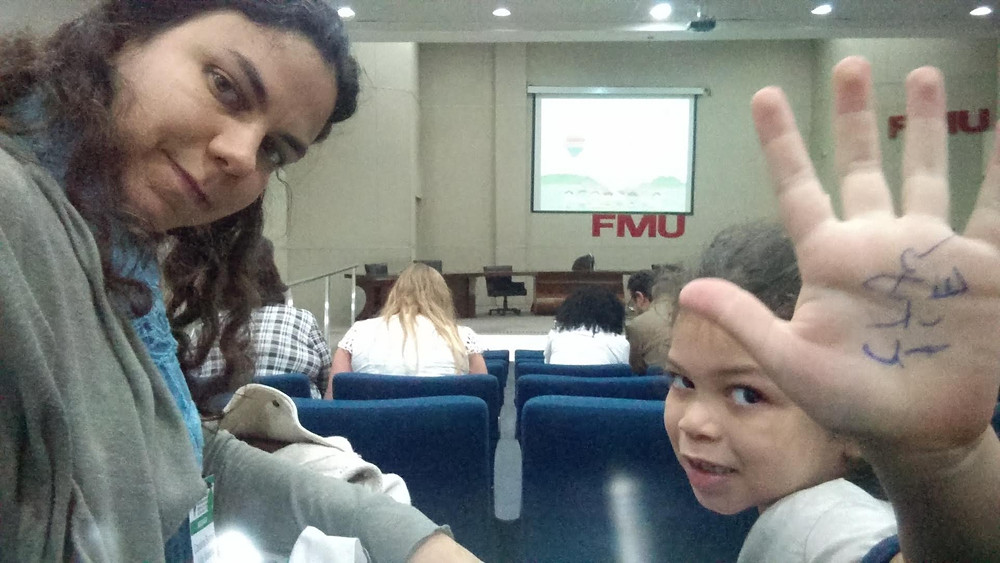 Em 2018, Carol e Clarice participaram da XI Conferência Convencional dos Direitos da Criança e do Adolescente do Município de São Paulo