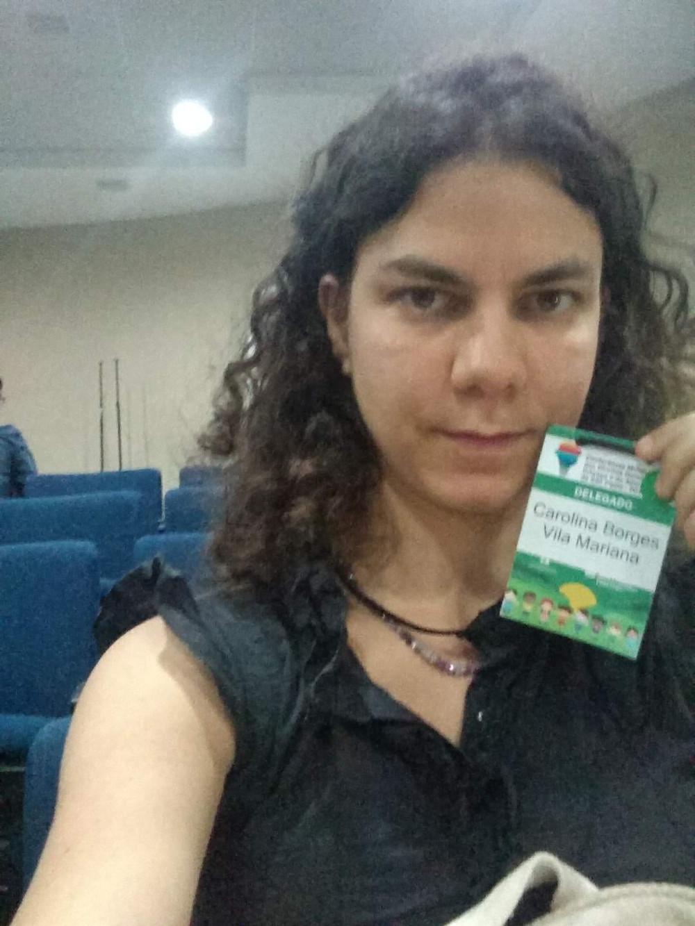Carol participa da XI Conferência Convencional dos Direitos da Criança e do Adolescente do Município de São Paulo