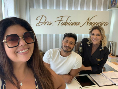 Dra Fabi Nogueira recebe a atriz Fabiana Karla e seu esposo Diogo Mello