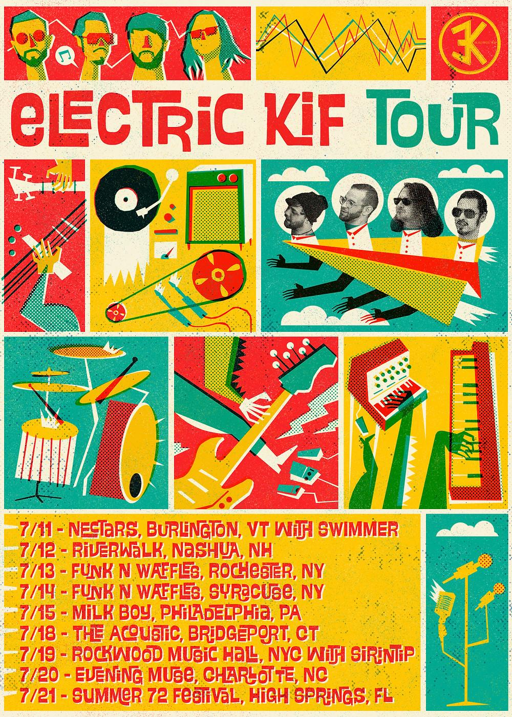 KIF SUMMER 2018 TOUR FLYER