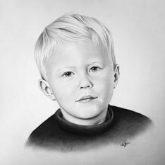 Porträttbeställning, blyerts.