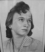 Tecknad i blyerts Konstnär Isabelle Rönnquist