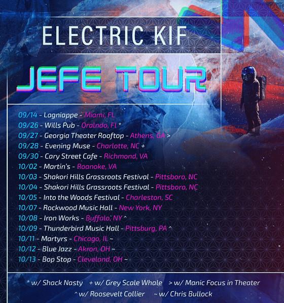"""""""JEFE"""" TOUR Sep 26-Oct 15"""