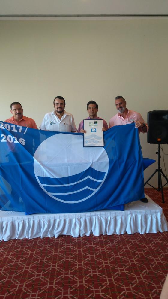 BLUE FLAG RAISING CEREMONY  PLAYA DE ORO - CERTIFICATION 2017 - 2018