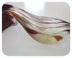 Murano Glass Leaf Pendant Choker