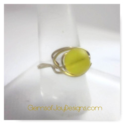 Lemon Drop Wire Wrapped Ring