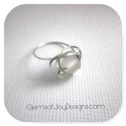Frosted Ice Wire Wrapped Ring