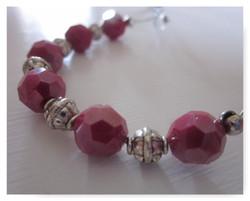 Burgundy Wine Wrap Bracelet