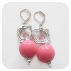 Pink Gumball Earrings