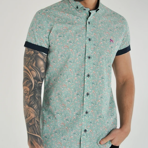 Bewley & Ritch - Printed shirt - Green - also available in orange