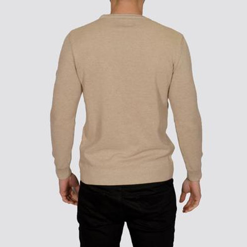 Bewley & Ritch - montana - long sleeved knitted - oatmeal