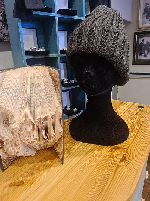 Khaki bobble hat