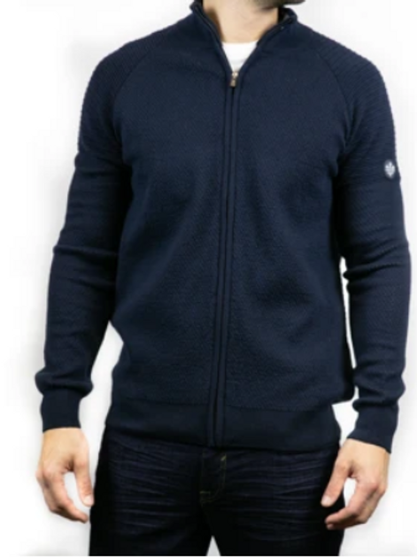 Bewley & Ritch - Oregon knitted cardigan - navy