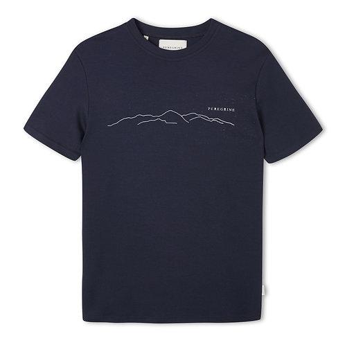 Peregrine - 100% Cotton Mountain Tee - navy